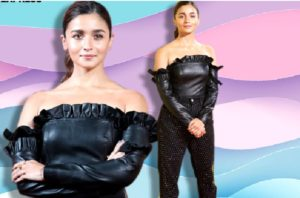 Alia Bhatt makes rare fashion faux pas in this odd mix of leather top and sequin pants