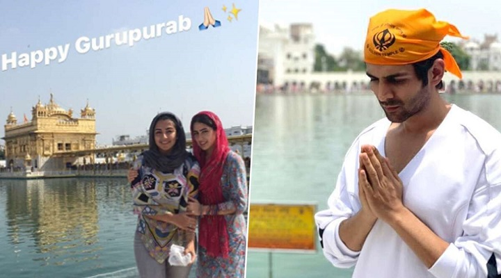 Sara Ali Khan and Kartik Aaryan Share Their Pics From Golden Temple On The Occasion of Gurpurab 2019