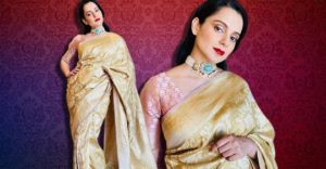 Kangana Ranaut's Banarasi sari is for all the winter weddings